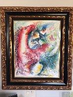 Dreams in Color II 1999 33x29 Original Painting by Zamy Steynovitz - 2