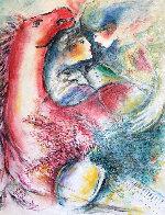 Dreams in Color II 1999 33x29 Original Painting by Zamy Steynovitz - 3