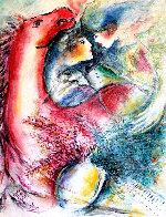 Dreams in Color II 1999 33x29 Original Painting by Zamy Steynovitz - 0
