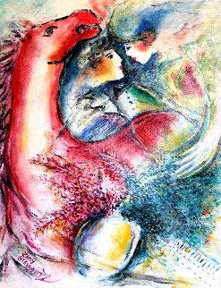 Dreams in Color II 1999 33x29 Original Painting - Zamy Steynovitz