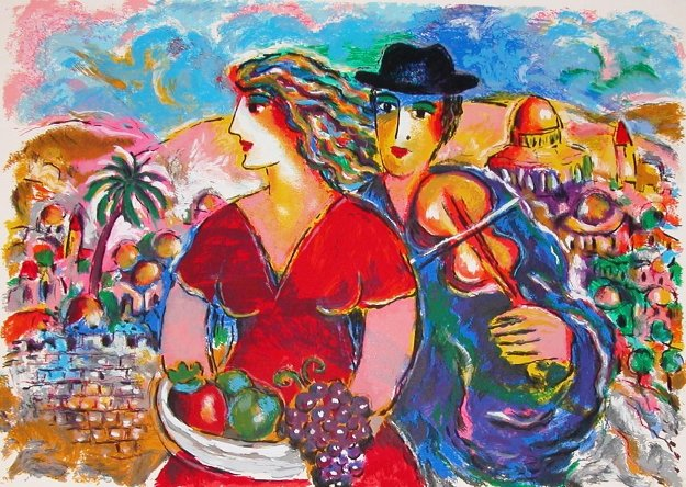 Wedding in Jerusalem AP 1999 Limited Edition Print by Zamy Steynovitz