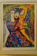 Woman in Floral Dress HS Limited Edition Print by Zamy Steynovitz - 2
