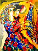 Woman in Floral Dress HS Limited Edition Print by Zamy Steynovitz - 0