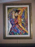 Woman in Floral Dress 1998 Embellished HS Limited Edition Print by Zamy Steynovitz - 1