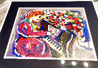 Woman Playing Piano HS Limited Edition Print by Zamy Steynovitz - 1