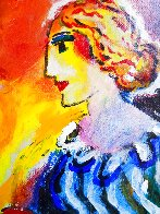 Untitled Portrait of a Woman 13x9 HS Original Painting by Zamy Steynovitz - 3