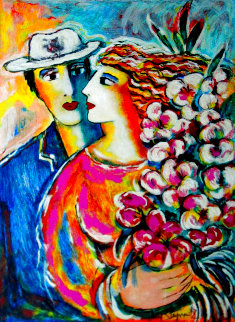 Spring Bouquet AP Embellished HS Limited Edition Print - Zamy Steynovitz
