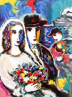 Honeymoon At Sea Embellished HS Limited Edition Print - Zamy Steynovitz