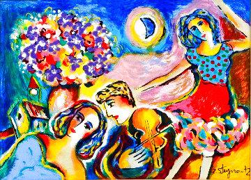 Moonlight Dancing 1998 Embellished HS Limited Edition Print - Zamy Steynovitz