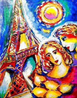 Eiffel Tower At Dusk 2005 Limited Edition Print - Zamy Steynovitz