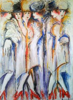 Red Shoes 1986 40x30 Super Huge HS Original Painting - Zamy Steynovitz