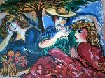 Untitled Painting 20x25 Original Painting - Zamy Steynovitz