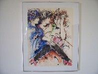 Three Women Together 1985 33x27 HS Original Painting by Zamy Steynovitz - 3