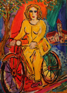 A Ride Into the Country 2000 29x24 HS Original Painting - Zamy Steynovitz