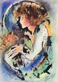 Untitled Painting 39x28 HS  Works on Paper (not prints) - Zamy Steynovitz