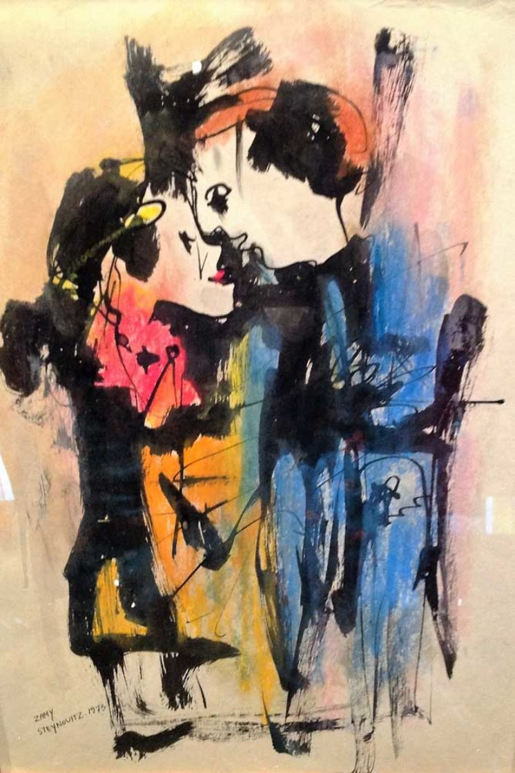 Untitled Watercolor 1985 21x25 Watercolor by Zamy Steynovitz