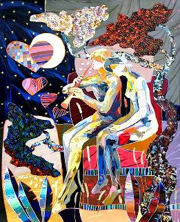 Musica Para El Alma 2019 31x25 Original Painting - Tadeo Zavaleta