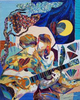 Llave De Mi Corazon 2019 31x25 Original Painting - Tadeo Zavaleta