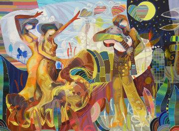 De Rumba 2013 52x40 Huge Original Painting - Tadeo Zavaleta