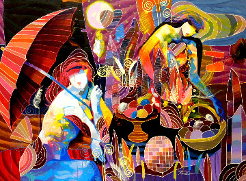 Nuevo Dia 2012 53x41 Huge  Original Painting - Tadeo Zavaleta