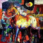 Acaricia Mi Mano 2011 55x55 Original Painting - Tadeo Zavaleta