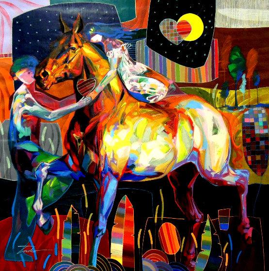 Acaricia Mi Mano 2011 55x55 Original Painting by Tadeo Zavaleta