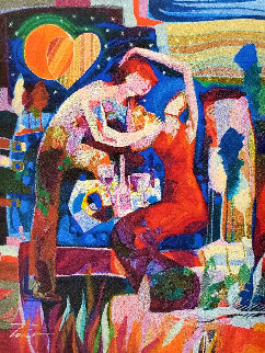 A Son De Tu Corazon 2014 30x24 Original Painting - Tadeo Zavaleta