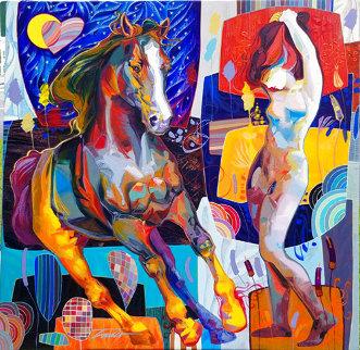 Breakaway 2014 50x50 Original Painting - Tadeo Zavaleta