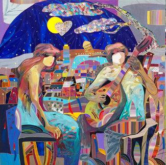 Paisaje Urbano 2016 50x50 Huge  Original Painting - Tadeo Zavaleta