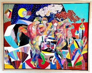 Esperanza 2020 35x45 Super Huge Original Painting - Tadeo Zavaleta