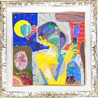 Oyendo La Luna 27x27 Original Painting by Tadeo Zavaleta - 1
