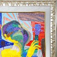 Oyendo La Luna 27x27 Original Painting by Tadeo Zavaleta - 3