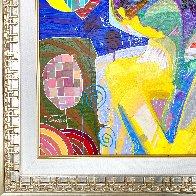 Oyendo La Luna 27x27 Original Painting by Tadeo Zavaleta - 5