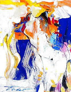 Traza De Curvas 14x11 Original Painting - Tadeo Zavaleta