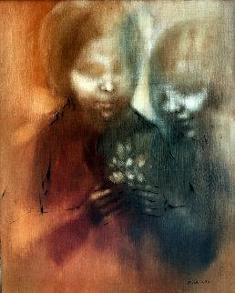 Conversation 29x24 Original Painting - Zora Duvall