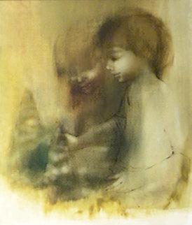 Sandcastle 1967 20x23 Original Painting - Zora Duvall