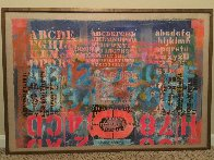 Landscape With Letters 1966 28x40 Super Huge Original Painting by Karl Zerbe - 1