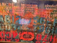 Landscape With Letters 1966 28x40 Super Huge Original Painting by Karl Zerbe - 4