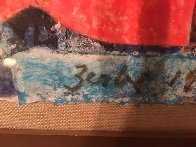 Landscape With Letters 1966 28x40 Super Huge Original Painting by Karl Zerbe - 9