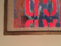 Landscape With Letters 1966 28x40 Super Huge Original Painting by Karl Zerbe - 7