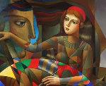 Brightly 2016 40x50 Original Painting - Oleg Zhivetin