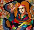 Untitled Painting 2016  24x27 Original Painting - Oleg Zhivetin