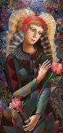 Birthday Flowers 2016 57x32 Original Painting - Oleg Zhivetin