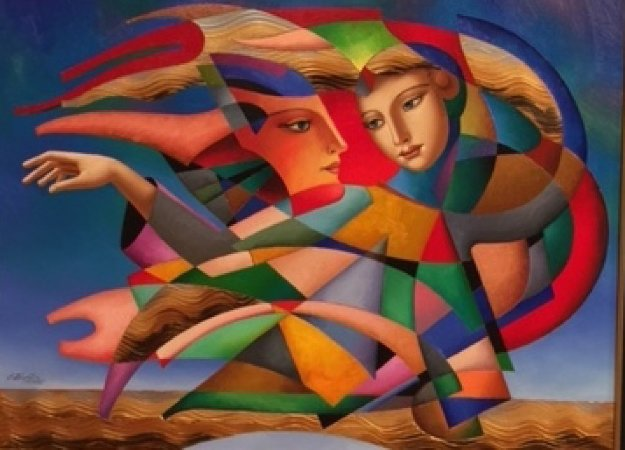 Cubist Dream 2016 39x49 Original Painting by Oleg Zhivetin