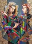 Pearls 2016 55x44 Original Painting - Oleg Zhivetin
