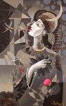 Stars 48x30 Original Painting - Oleg Zhivetin