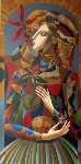 His Present 34x58 Original Painting - Oleg Zhivetin