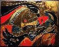 Wings 28x36 Double Signed Original Painting - Oleg Zhivetin