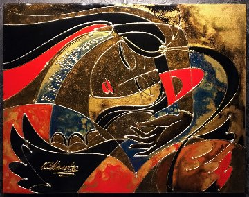 Wings 28x36 Double Signed Original Painting by Oleg Zhivetin