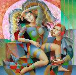 At Peace 2016 57x57 Original Painting - Oleg Zhivetin